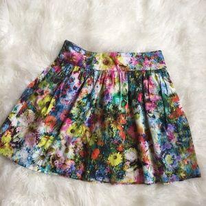 Zara women floral print skirt